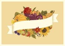 De herfst Uitstekende vectorkaart Royalty-vrije Stock Afbeeldingen