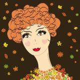 De herfst van de dame stock illustratie