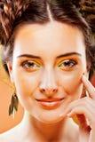De herfst van de vrouw Royalty-vrije Stock Fotografie