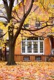 De herfst van het huis royalty-vrije stock afbeeldingen