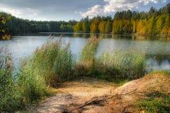 De herfst van het meer Royalty-vrije Stock Afbeeldingen