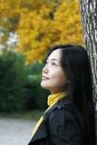 De herfst van het meisje Stock Afbeelding