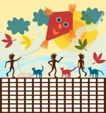 De herfst van het schooltijdschema Stock Foto's