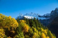 De herfst van landschapsbergen Stock Afbeeldingen
