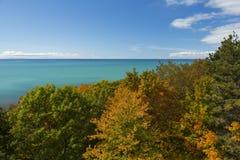 De Herfst van Michigan van het meer Royalty-vrije Stock Afbeeldingen