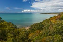 De Herfst van Michigan van het meer Royalty-vrije Stock Foto's