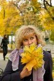 De herfst van vrouwen Royalty-vrije Stock Foto's