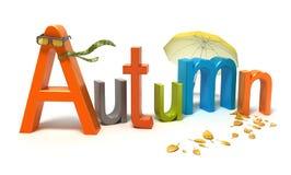 De herfst van Word met kleurrijke brieven Stock Foto