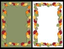 De herfst verlaat frames Stock Afbeelding