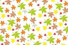 De herfst verlaat gebladerteaard vectorachtergrond geeloranje groen behangconcept voor Web en druk Royalty-vrije Stock Foto's
