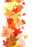 De herfst verlaat naadloze achtergrond Vector illustratie Royalty-vrije Stock Afbeeldingen