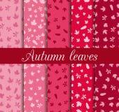 De herfst verlaat naadloze patroonreeks Voor behang, bedlinnen, tegels, stoffen, achtergronden Royalty-vrije Stock Foto