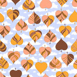 De herfst verlaat Patroon Stock Foto's