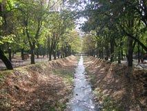 De herfst in Vrnjacka-banja Royalty-vrije Stock Afbeelding