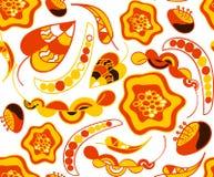 De herfst in warm kleuren naadloos patroon royalty-vrije illustratie
