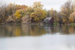 De herfst watermill Stock Foto's