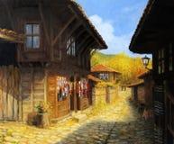 De herfst in Zheravna Stock Afbeelding
