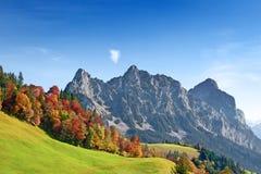 De herfst in Zwitserse alpen Royalty-vrije Stock Afbeeldingen