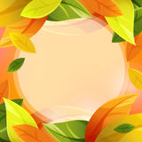 De herfstachtergrond met bladdaling vector illustratie