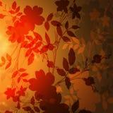 De herfstachtergrond met bladeren Stock Foto's