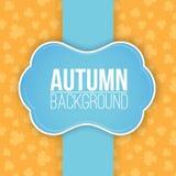De herfstachtergrond met bladeren Royalty-vrije Stock Foto's