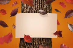 De herfstaffiche Stock Foto