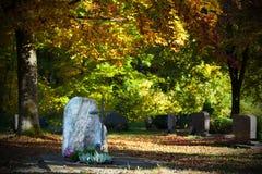 De herfstbegraafplaats Royalty-vrije Stock Foto