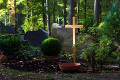 De herfstbegraafplaats Stock Afbeelding