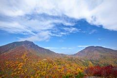 De herfstberg stock afbeelding