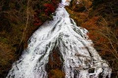 De herfstbladeren bij Yudaki-Dalingen royalty-vrije stock foto