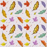 De herfstbladeren van de patroonkrabbel royalty-vrije illustratie