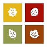 De herfstbladeren, vectorpictogramreeks Royalty-vrije Stock Afbeelding