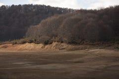 De herfstbomen in Mavrovo stock foto
