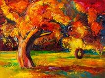 De herfstboom Stock Foto