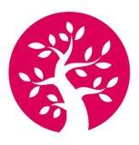 De herfstboom om pictogram Stock Afbeeldingen