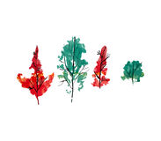 De herfstbos, illustratie Royalty-vrije Stock Foto's