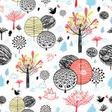 De herfstbos van de textuur Stock Foto