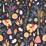 De herfstbos van de textuur Royalty-vrije Stock Afbeeldingen