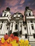 De herfstconcept van Praag Stock Afbeelding