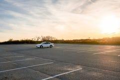 De herfstdag bij Montauk-het parkeren Hamptons New York van de Puntvuurtoren royalty-vrije stock afbeelding