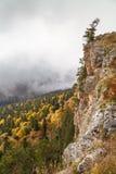 De herfstdag in de bergen Stock Foto's