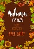 De herfstfestival over Vrijdag 28 Oktober met vrije ingang Stock Illustratie