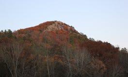 De herfstheuveltop stock fotografie