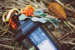 De herfstkaars, als achtergrond Royalty-vrije Stock Afbeelding