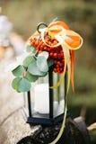 De herfstkaars, als achtergrond Stock Fotografie