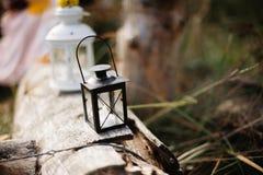 De herfstkaars, als achtergrond Royalty-vrije Stock Fotografie
