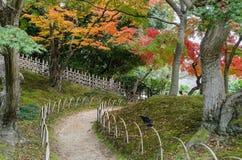 De herfstkleur van Korakuen-tuin in Okayama, Japan stock afbeelding