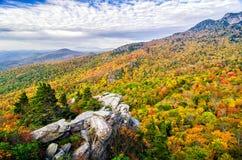 De herfstkleuren, Blauw Ridge Parkway royalty-vrije stock fotografie