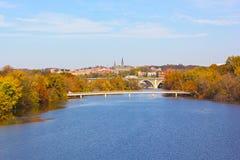 De herfstkleuren in Georgetown, Washington DC Stock Afbeelding