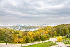 De herfstkleuren van Park stock afbeelding